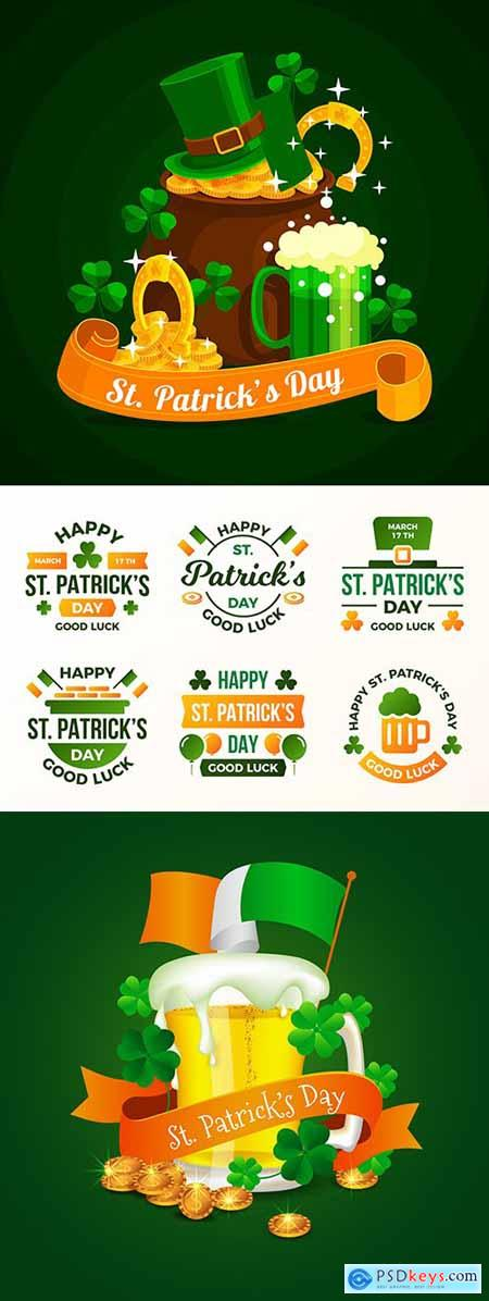 St Patricks Day design vector party illustrations