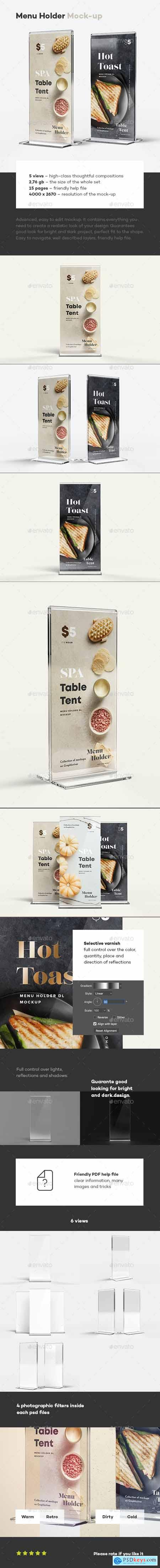 Menu Holder Mock-up 29894381