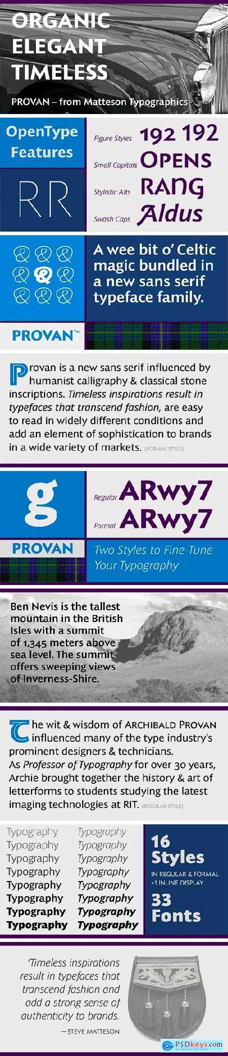 Provan Font Family