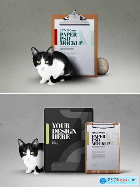 Cat Mockup Clipboard