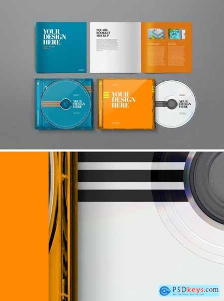 CD Mockup Jewel Case Square Booklet