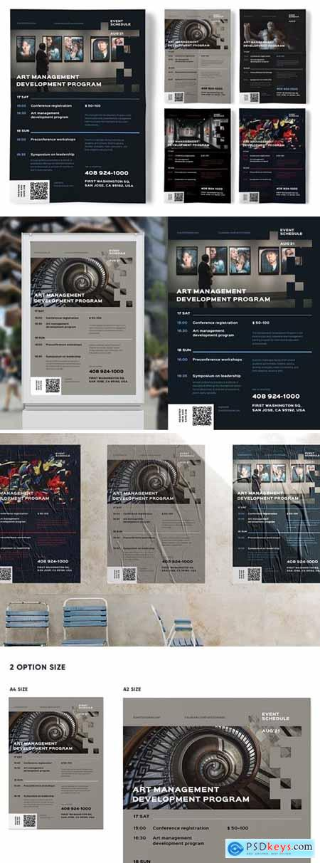 Event Schedule Poster Template