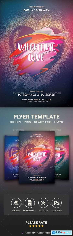 Valentine Love Flyer 29967680