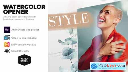 Watercolor Frames Opener 4K and Social 30236910