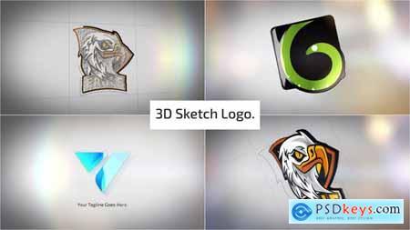 Clean 3D Sketch Logo Reveal 29810907