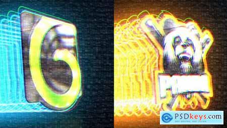 Stroke Glitch Logo 25568264
