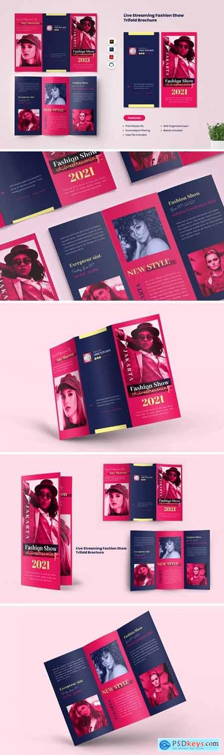 Fashion Show Live Streaming Trifold Brochure