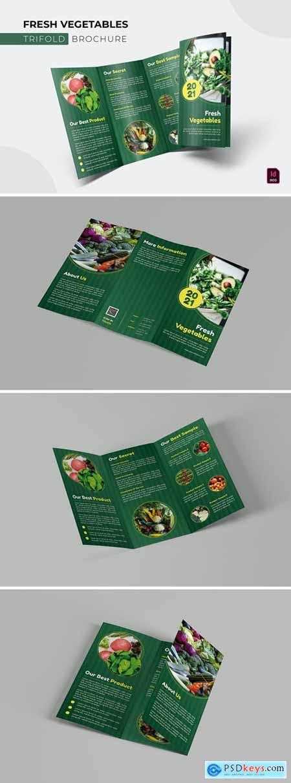 Fresh Vegetables - Trifold Brochure