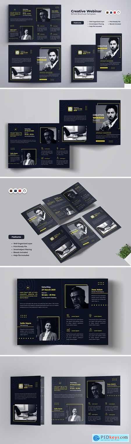 Creative Webinar Bifold Brochure