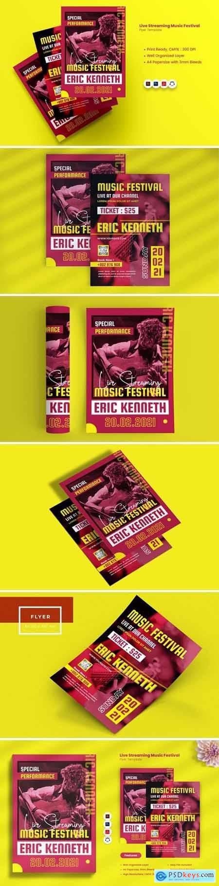 Live Streaming Music Festival Flyer
