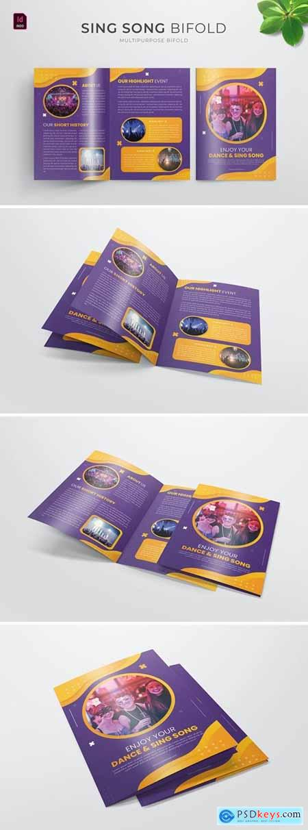 Sing Song Event - Bifold Brochure