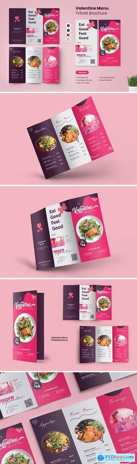 Valentine Menu Trifold Brochure