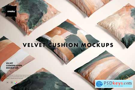 Velvet Cushion Cover Mockup Set 5766933