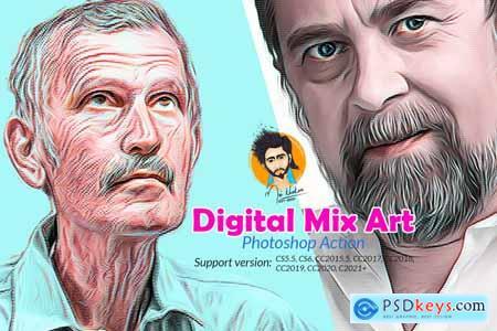 Digital Mix Art Photoshop Action 5748066