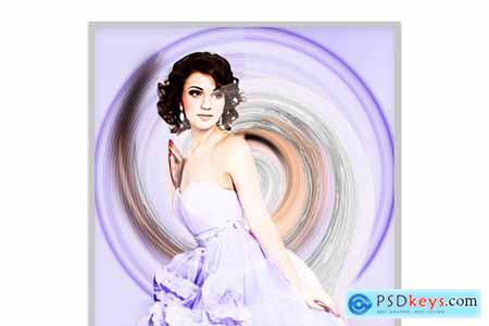 Twirl Paint Photoshop Action 5747796