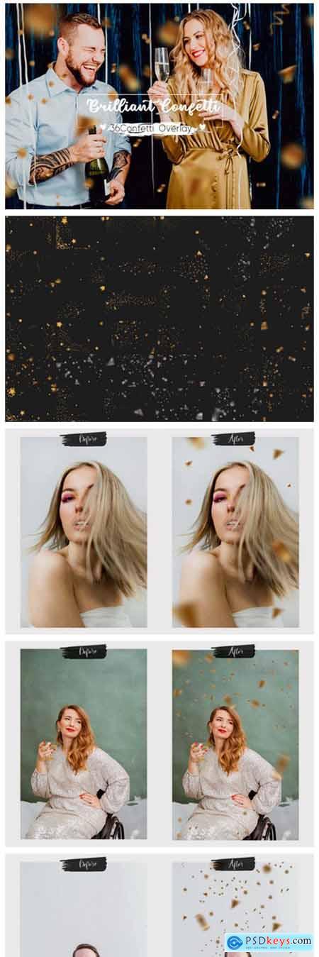 36 Brilliant Confetti Overlays 8065253