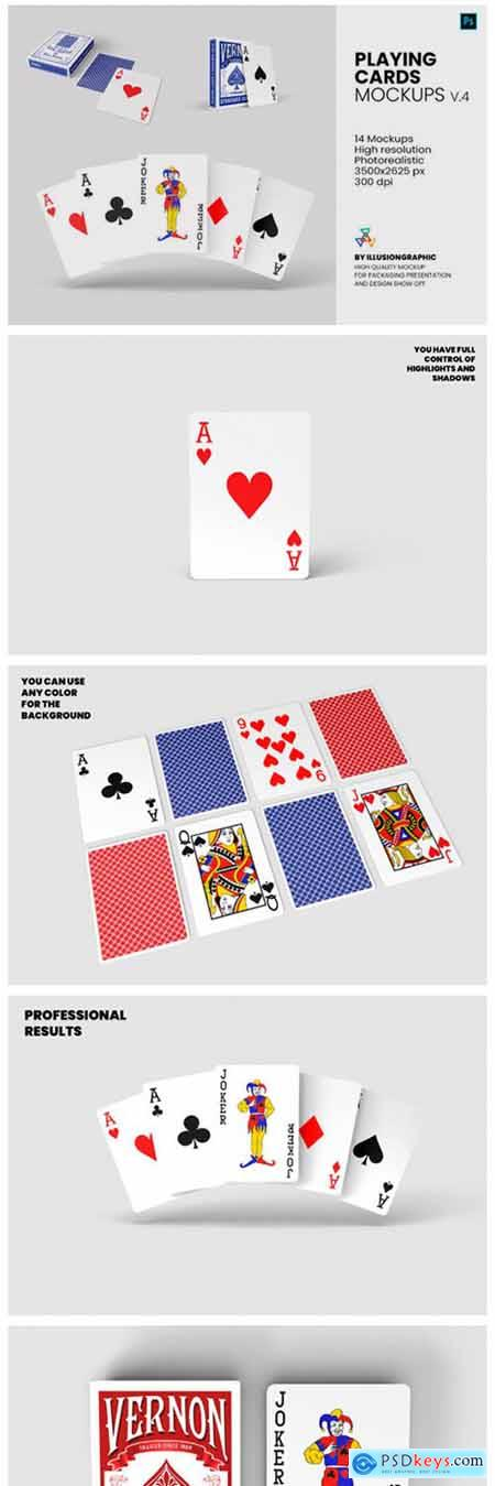 Playing Cards Mockups - V.4 - 14 Views 6595679