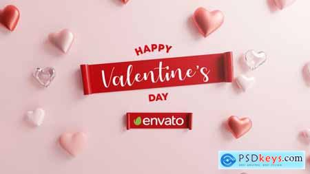 Happy Valentine Logo Reveal 3D 30263425