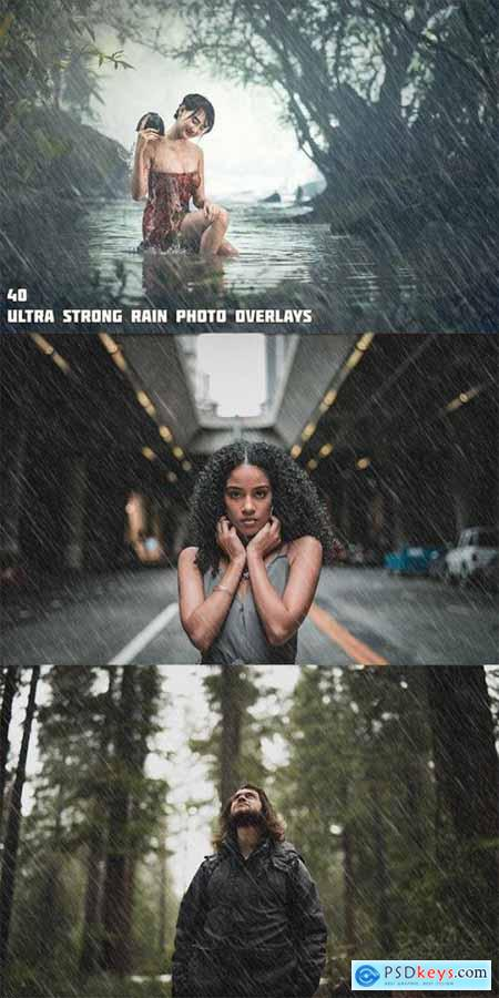 40 Ultra Strong Rain Photo Overlays