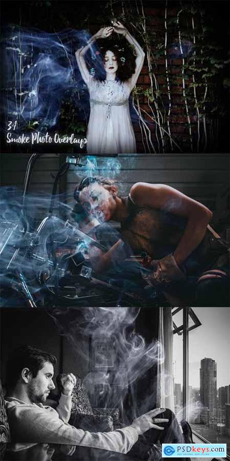 34 Smoke Photo Overlays