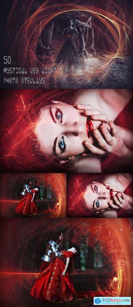 50 Mystical Red Light Photo Overlays 3499097