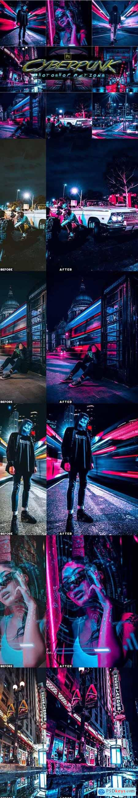Cyberpunk Photoshop Actions 30123754