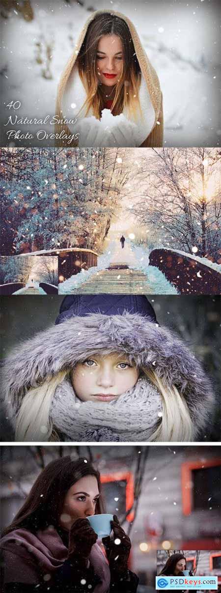 40 Natural Snow Photo Overlays 3616903