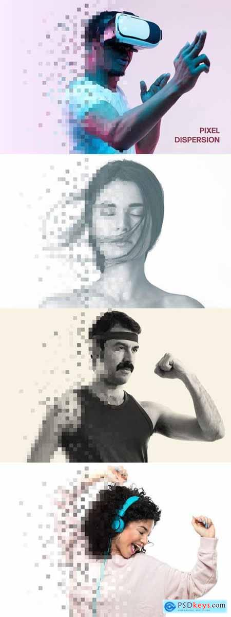 Pixel Dispension Photo Effect