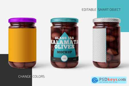 Jar with Kalamata Olives Mockup Set 5826221