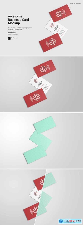 Awesome Business Card Mockup