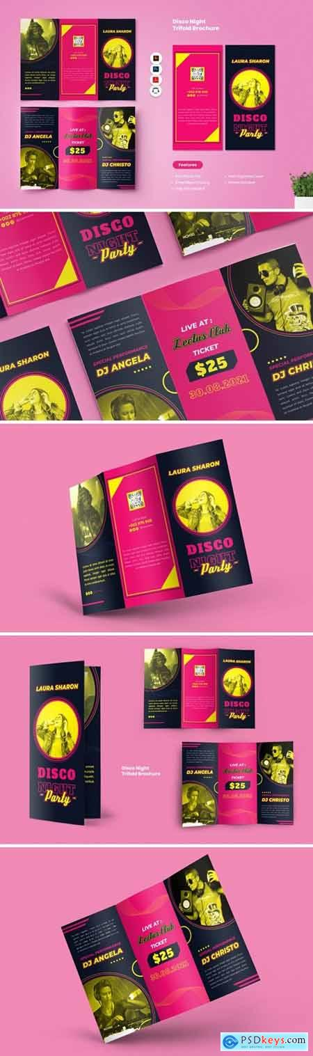 Disco Night Party Trifold Brochure