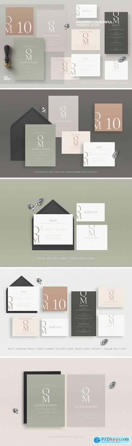 Modern Colourful Wedding Suite