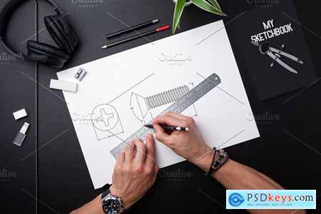 Sketchbook Mock-up 5832698
