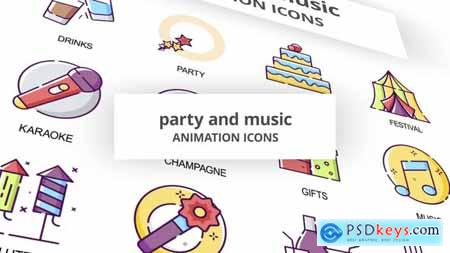 Party & Music - Animation Icons 30041615