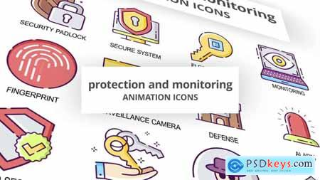 Protection & Monitoring - Animation Icons 30041679