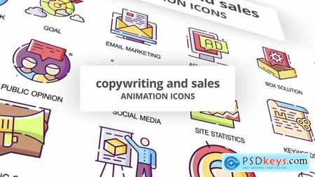 Copywriting & Sales - Animation Icons 30041537