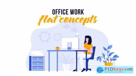 Office work - Flat Concept 30170115