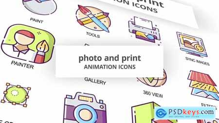 Photo & Print - Animation Icons 30041645