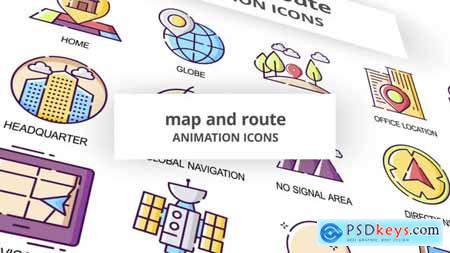 Map & Route - Animation Icons 30041572