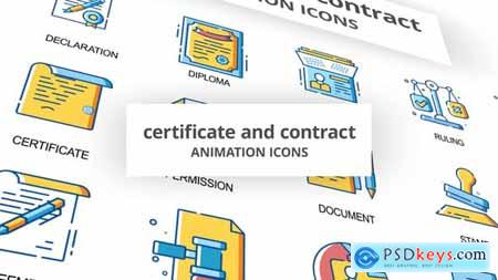 Certificate & Contract - Animation Icons 30260786
