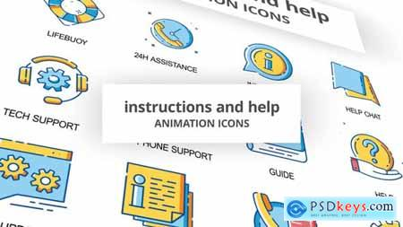 Instructions & Help - Animation Icons 30260870