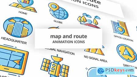 Map & Route - Animation Icons 30260892