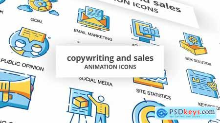 Copywriting & Sales - Animation Icons 30260816