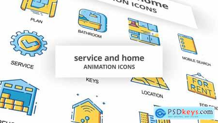 Service & Home - Animation Icons 30261008