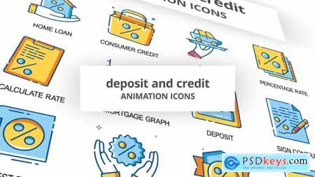 Deposit & Credit - Animation Icons 30260849