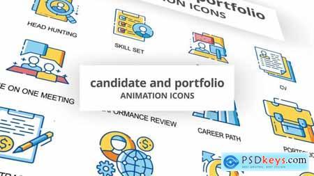 Candidate & Portfolio - Animation Icons 30260773