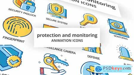 Protection & Monitoring - Animation Icons 30260985