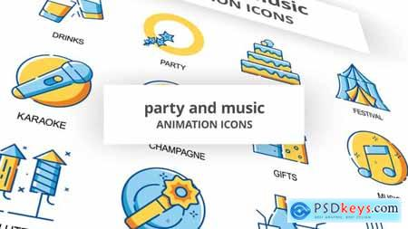 Party & Music - Animation Icons 30260926