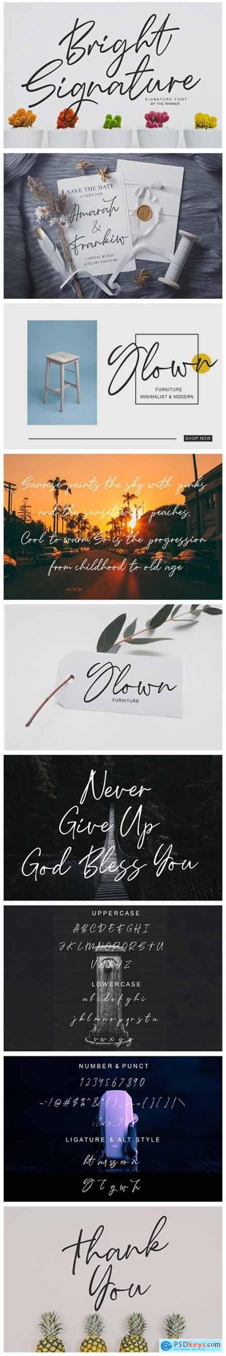 Bright Signature Font