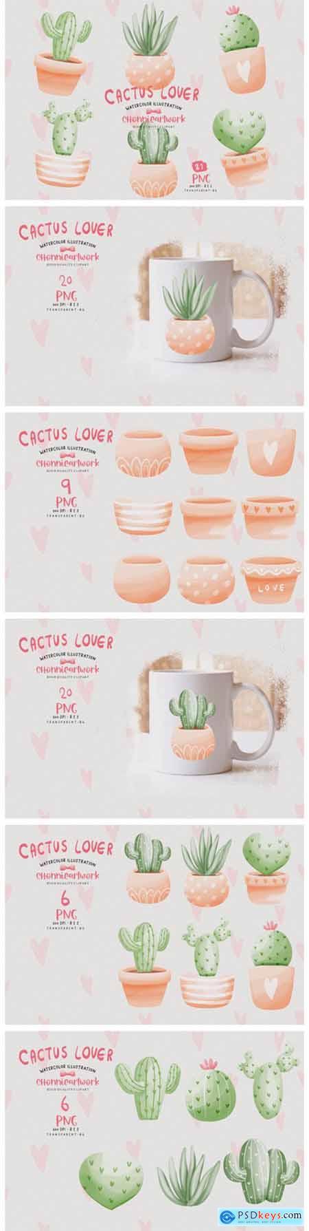 Cactus Pots PNG Bundle, Cactus PNG 8156159